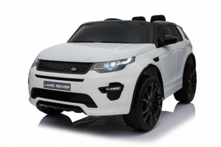 Slika Land Rover Discovery Licencirani Auto na akumulator sa kožnim sedištem i mekim gumama - Beli