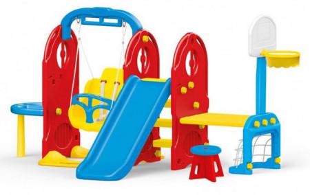 Dečiji komplet MEGA za dvorište (Mega) Kućica + Set 7u1 + Klackalica + Trambolina