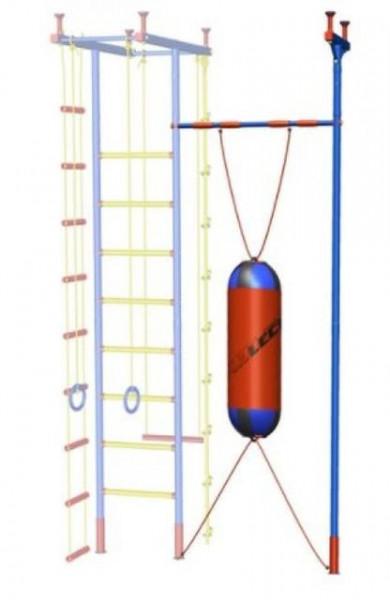 Slika HJ Dopunska potpora za spravu vis. 2,35 - 3,20 sa gimnastičkim vratilom i džakom za udaranje ( gp030964 )