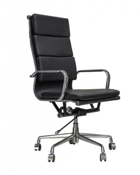 Slika Kancelarijska stolica BOB HB L od prave kože - Crna
