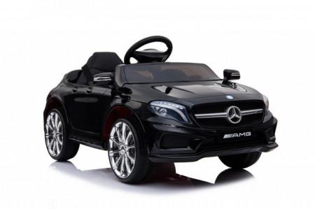 Slika Mercedes GLA 45 AMG Licencirani auto za decu na akumulator sa kožnim sedištem i mekim gumama - Crni