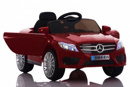 Slika Mercedes XMX 815 Auto na akumulator sa kožnim sedištem i mekim gumama - Crveni