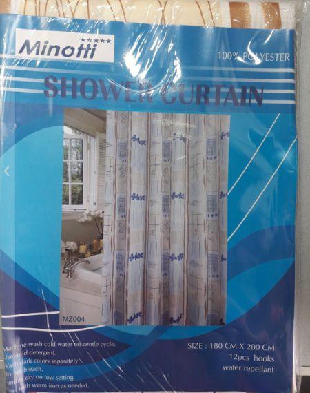 Slika Minotti Kupatilska zavesa - poliester 200x180 cm BEŽ ( MZ004 )