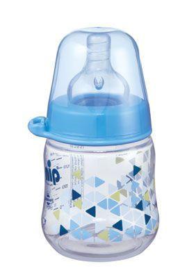 Nip flašica sa širokim otvorom dečaci 150 ml sa silikonskom cuclom za 0m+ ( 0190071 )