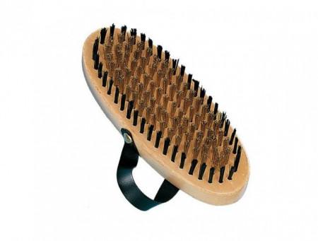 Nobby 72618 Nature Line četka za pudle drvena oval sa kaišem ( NB72618 )