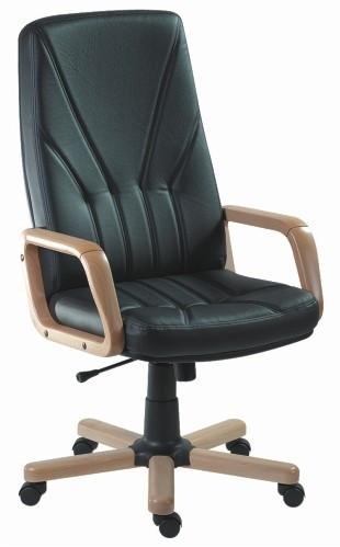 Slika Radna fotelja - KliK 5900 (prava koža) - izbor boje kože