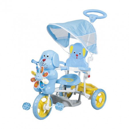 Slika Tricikl za decu model sa kucom - plavi - do 25 kg