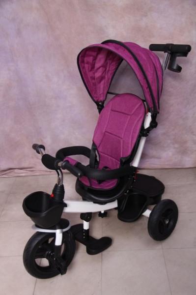Slika Tricikl za decu T06 sa podesivim naslononom - Pink 6018