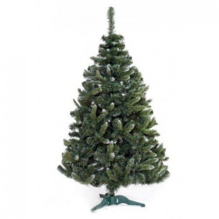 Slika Zelena novogodišnja jelka sa belim vrhovima 420 cm