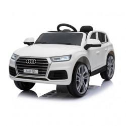 Audi Q5 2019 Licencirani auto na akumulator sa kožnim sedištem i mekim gumama - Beli