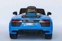 Audi R8 Spyder Licencirani Auto na akumulator sa kožnim sedištem i mekim gumama - Plavi ( Audi R8-2 )