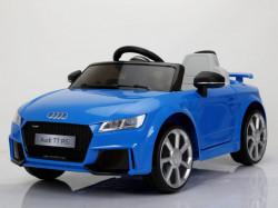 Audi TT RS Licencirani auto sa kožnim sedištima i mekim gumama - Plavi