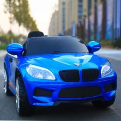 Auto na akumulator model 243-1 Metalik plavi sa daljinskim upravljanjem i kožnim sedištem