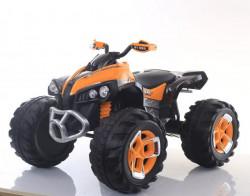Bagi Kvad Motor na akumulator sa mekim gumama i kožnim sedištem - Narandžasti