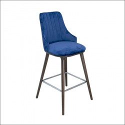 Barska stolica Mobi Plava/ Tamni orah noge 620x560x1160 mm ( 776-006 )