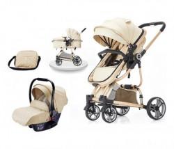 BBO kolica za bebe tiffany set - beige ( 618BEIGES )