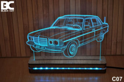 Black Cut 3D Lampa jednobojna - Mercedes ( C07 )