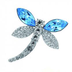 Broš sa swarovski kristalom Oliver Weber Libella Aqua