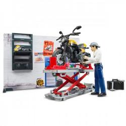 Bruder Set sa figurama mehaničar, motor,dizalica ( 621025 )