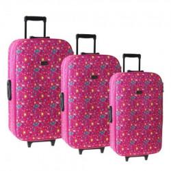 Cairo, kofer, set 3 komada, PE, flamingo ( 100121 )