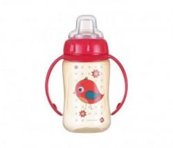 Canpol baby flašica/šolja sa kljunom i ručkama 56/512 Happy animals - training 320ml - bird ( 56/512_red )