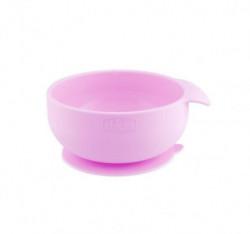 Chicco vakumski silikonski tanjir, 6m+, roze ( A049966 )