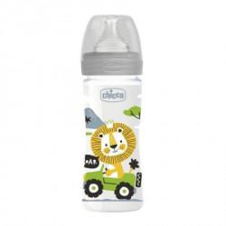 Chicco WB plastična flašica 250ml, silikon, siva ( A048500 )