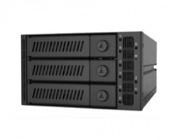 """Chieftec CMR-2131SAS 2 x 5.25"""" SATA crna fioka za hard disk"""