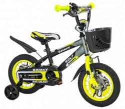 """Dečiji Bicikl Wolf 12"""" crna/siva/žuta ( 460461 )"""