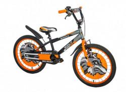 """Dečiji Bicikl Wolf 20"""" crna/siva/narandžasta ( 650093 )"""