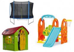 Dečiji komplet PARADISE za dvorište (P) Kućica + Set 4u1 + Trambolina