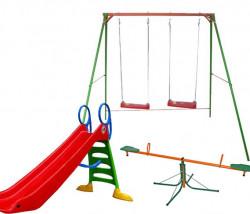 Dečiji komplet za dvorište ( Fun & Relax G ) Ljuljaška + Tobogan + Klackalica