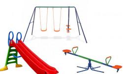 Dečiji komplet za dvorište ( Fun & Relax ) Ljuljaška + Tobogan + Klackalica