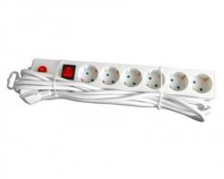 E-Green Kabl naponski 6u5m sa Prekidačem i Zaštitom (beli)