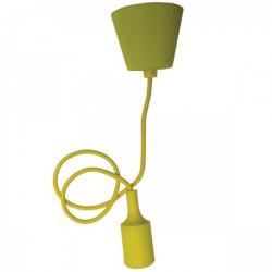 Elit+ silikonska luster visilica sa grlom e27 žuta ( EL9726 )