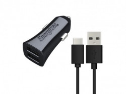 Energizer Ultimate Car Charger 2USB+Cable USB-C Black ( DCA2CUC23 )