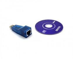 Fast Asia Adapter USB tip A (M) - RJ-45 (F) + CD plavi JP1082