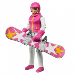 Figura žena na snowboard-u ( 604202 )