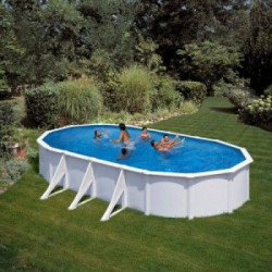 GRE Ovalni porodični bazeni sa čeličnom konstrukcijom 6,1x3,75x1,2 - skimer i uduvač ( 0003341 )