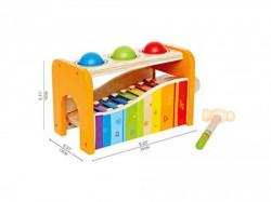 Hape drvena igračka pogodi oblik ( E0305 )
