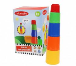 Infunbebe igracka za bebe zaglavljene case 12m+ (5kom) ( PL204-5 )