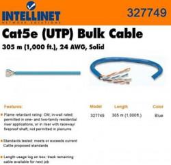 Intellinet kabel UTP Cat.5e 305m, sivi 24AWG,Solid ( 05370791 )