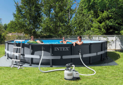 Intex 610 X 122 cm ULTRA FRAME bazen sa čeličnom konstrukcijom i peščanom pumpom