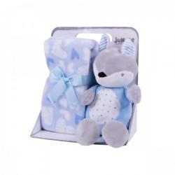 Jungle igračka sa ćebetom plava Lisica 23cm,90x75cm ( 31000256 )
