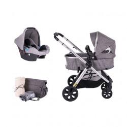 Jungle Jazz 3u1 kolica za decu crno-siva ( 012312 ) TK310 SILVER