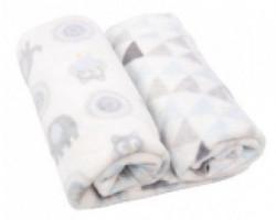 Kikka Boo Gift set Coral fleece ćebence Blue owls ( 31103020036 )
