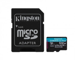 Kingston U3 V30 microSDXC 512GB Canvas Go Plus 170R A2 + adapter ( SDCG3/512GB )