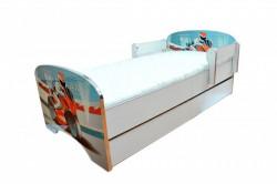 Krevet za decu Blue Motor sa dve fioke 160*80 cm - model 803