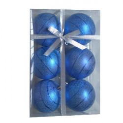 Kuglice 8cm 6kom plave ( 51-704000 )