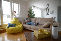 Lazy BAG - Big BEAN Tirkiz Šoteks ( 270x130 )